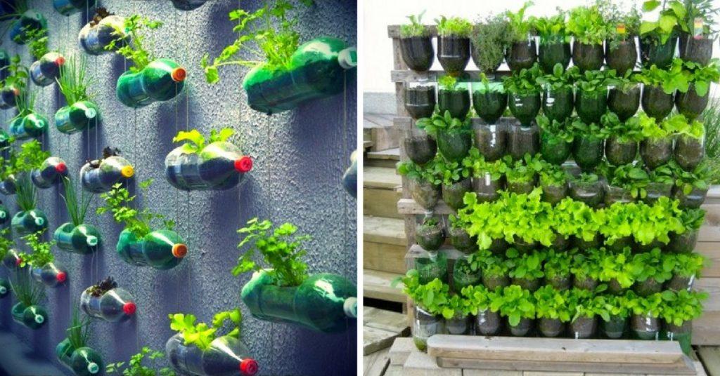 Horizontal plastic container arrangement